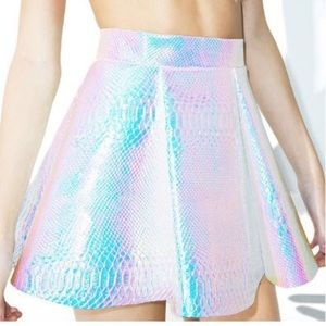 RAVE BARBIE Holographic holo Skirt